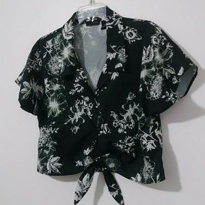 Womens Floral Crop Top